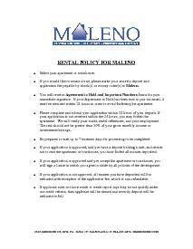 Rental Policy