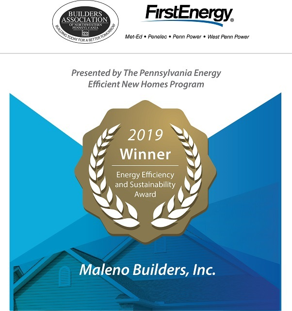 Maleno Builders Award Winner - First Energy