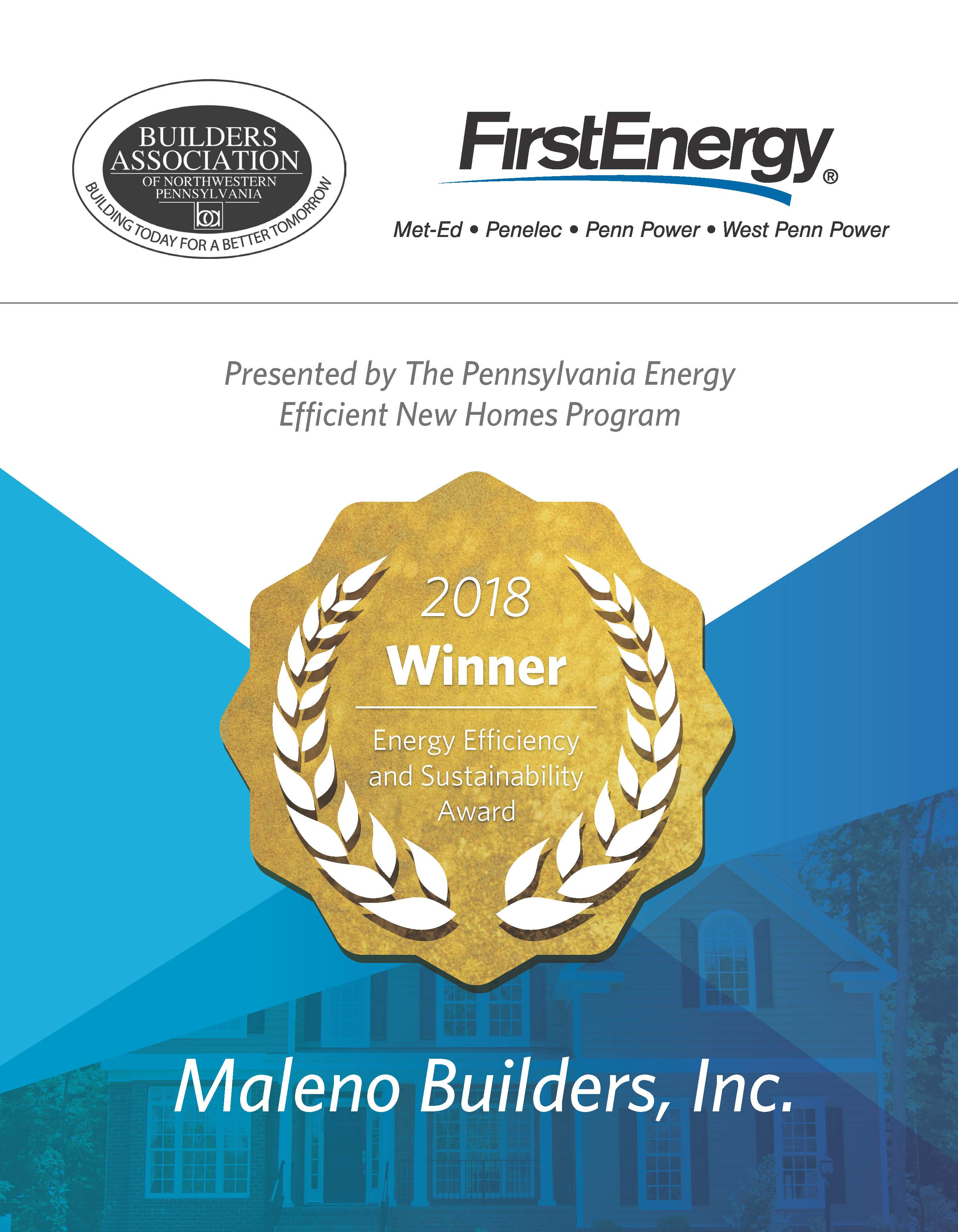 First Energy Award - Energy Efficiency 2018
