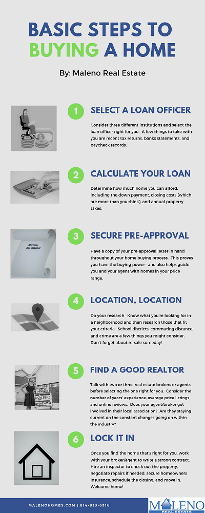 Steps to Buying a Home Infographic by Maleno