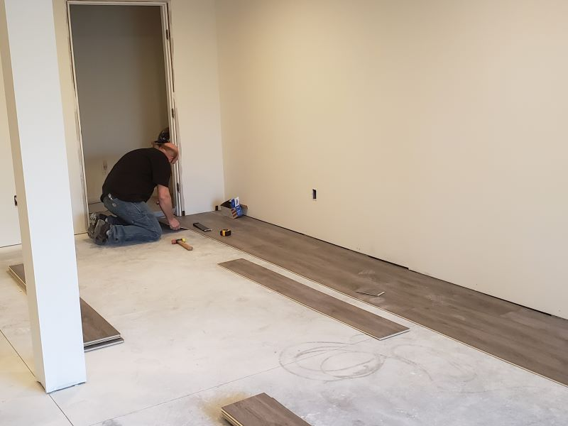 man at work in basement