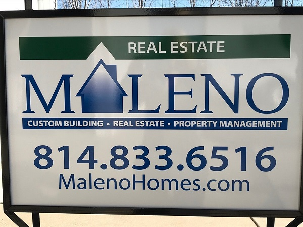 Maleno Real Estate Sign Erie, PA