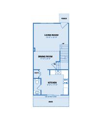 Lake View Floorplan - Two Bedroom