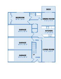 Lake View Floorplan - One Bedroom First Floor