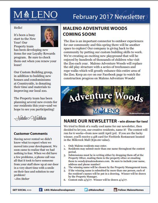 Maleno Newsletter February 2017