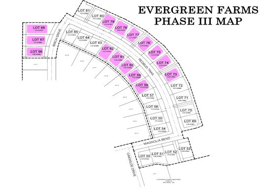 Evergreen Farms Phase III Map