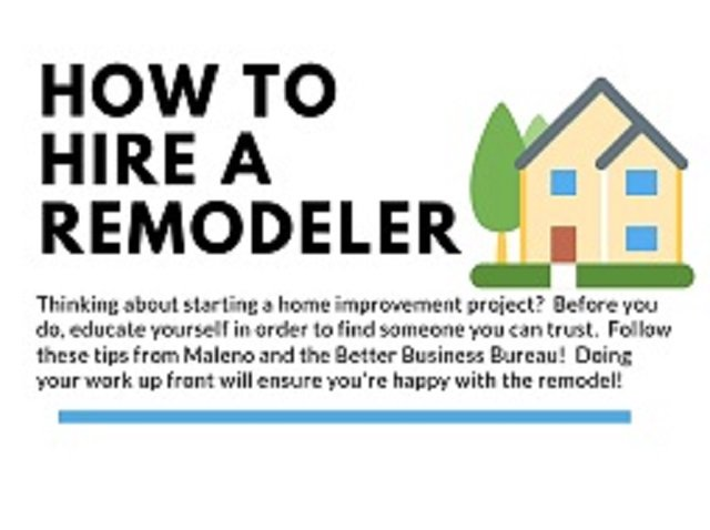 INFOGRAPHIC:  How to Hire a Remodeler